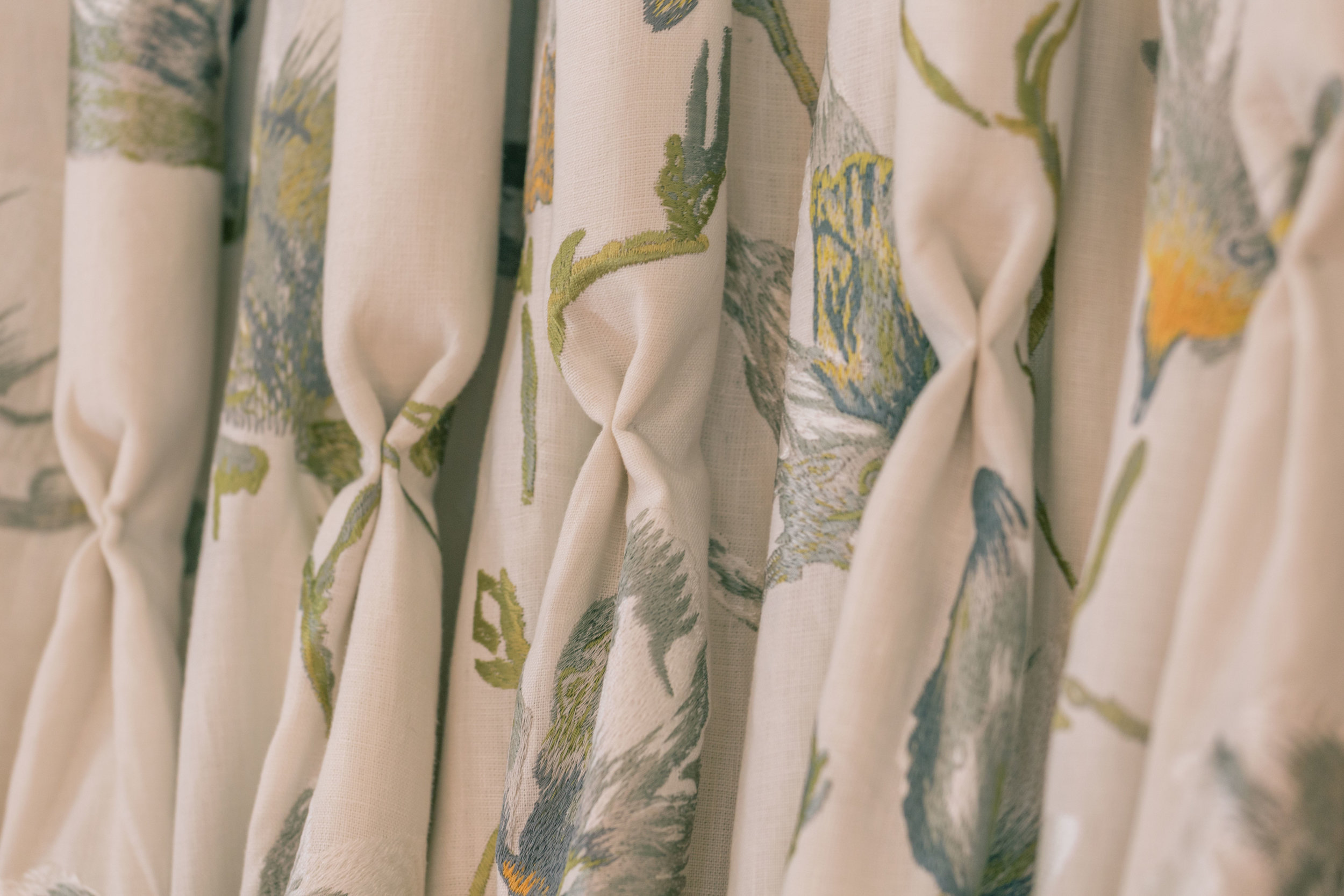 AT HOME OR ONLINe - Beautiful hand finished made to measure curtains delivered direct to your door!