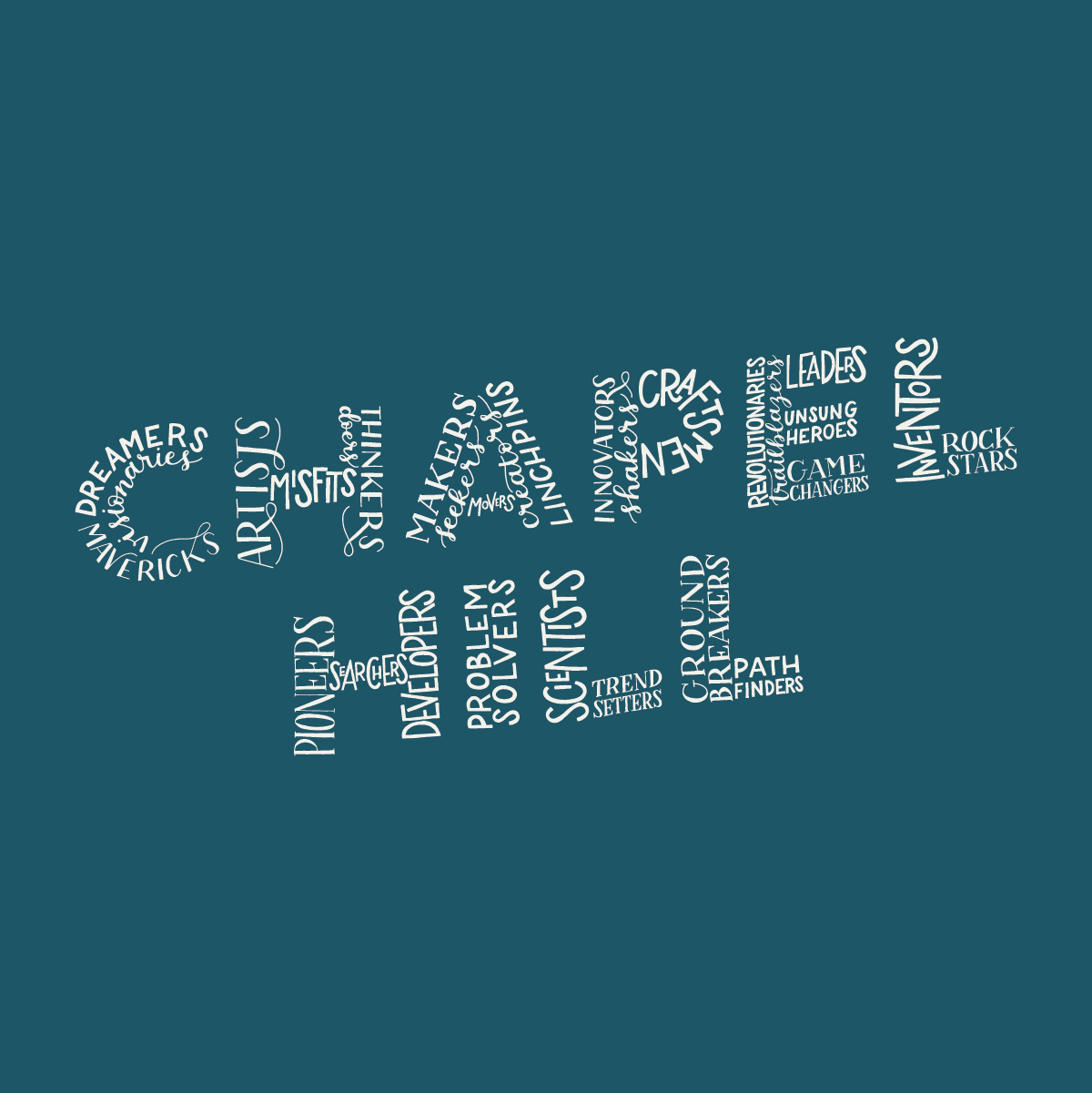 Chapel Hill Hand Lettering
