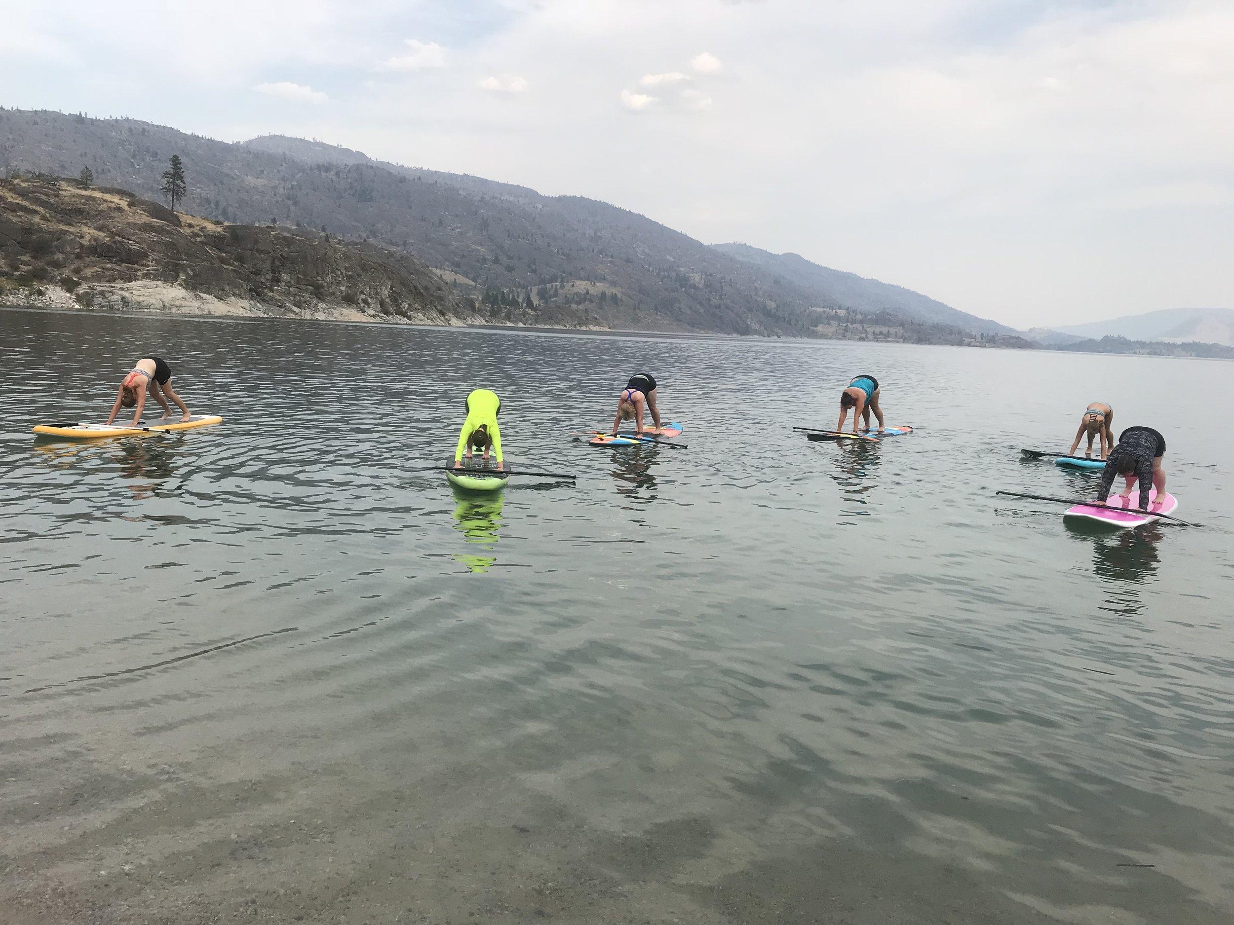 SUP Yoga at Omak Lake
