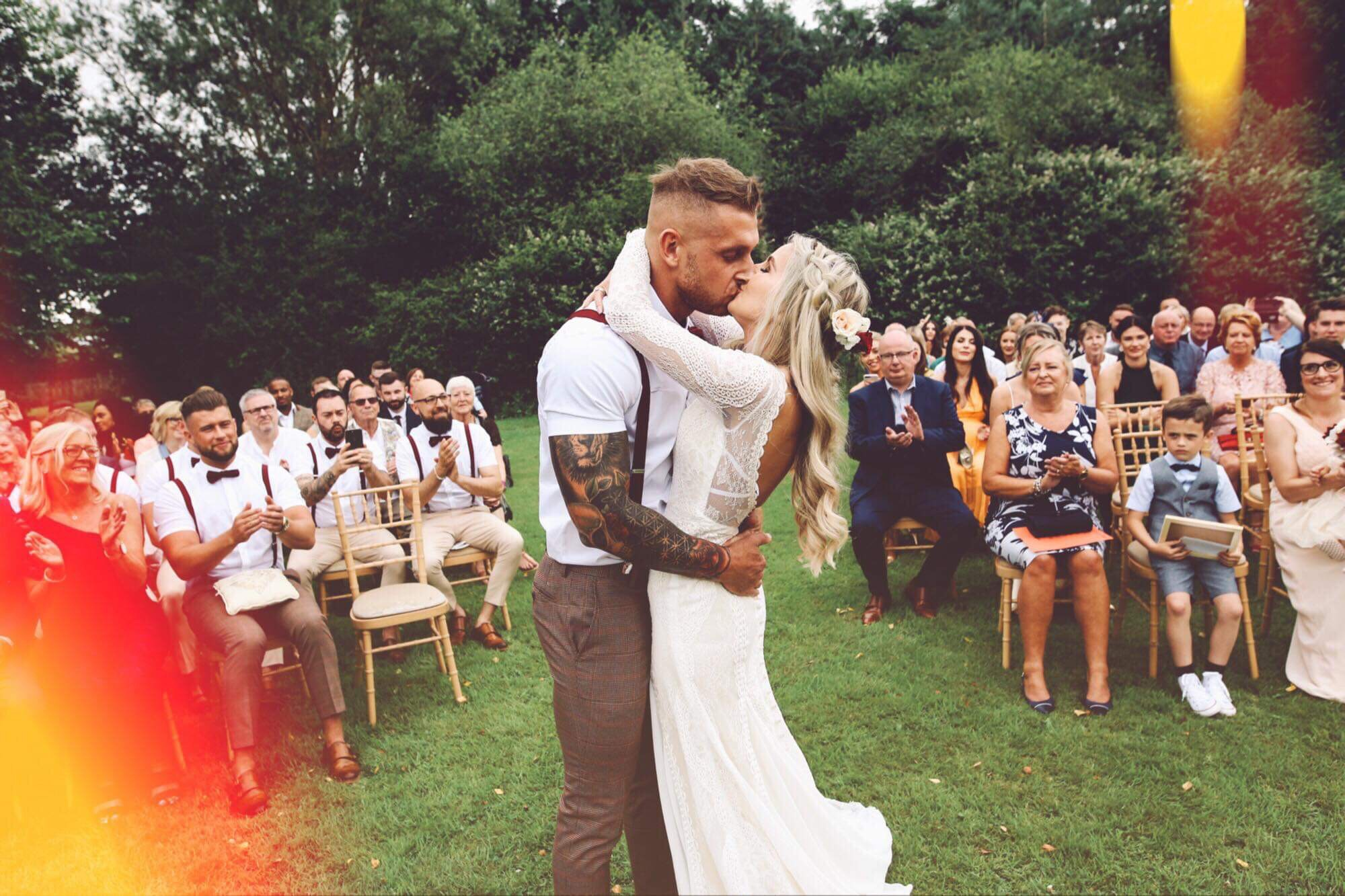 """""""Right the plate said it was party-started time so without further ado please everyone be upstanding…As I give you…the new…. MR AND MRS KAVVADIAS!"""""""
