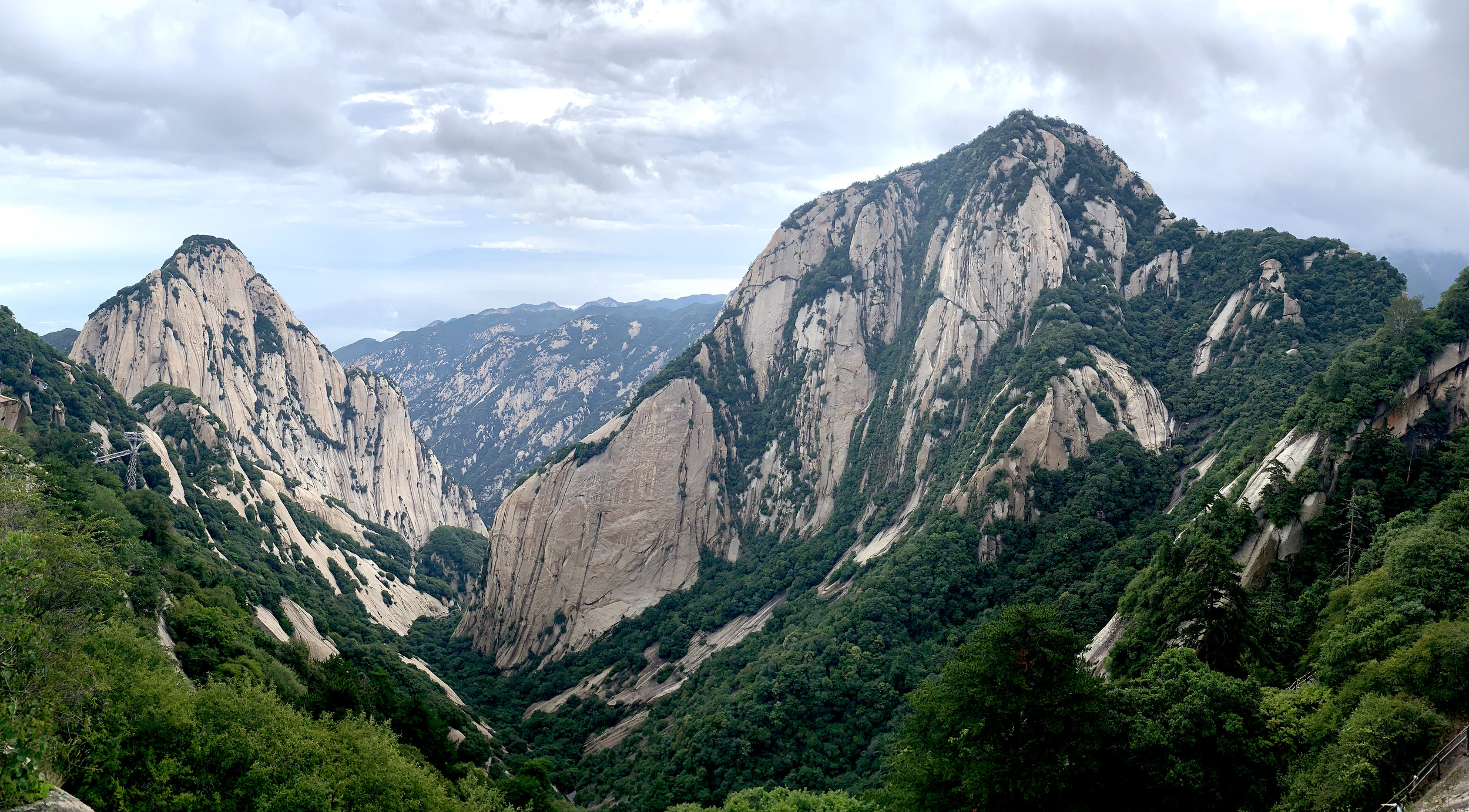 View of Huashan, but looks can be deceiving.