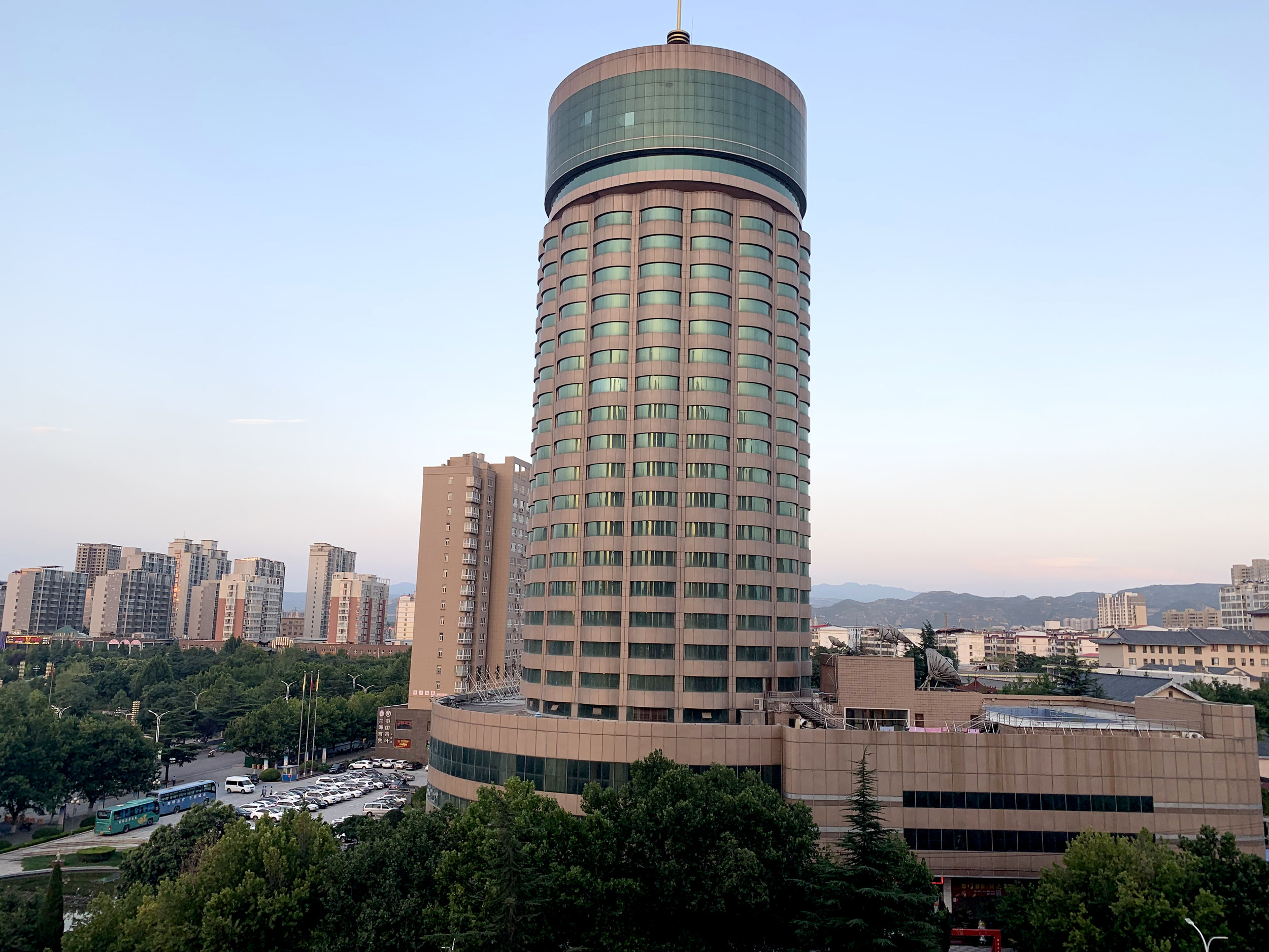 The city of Lingbao from my hotel window.