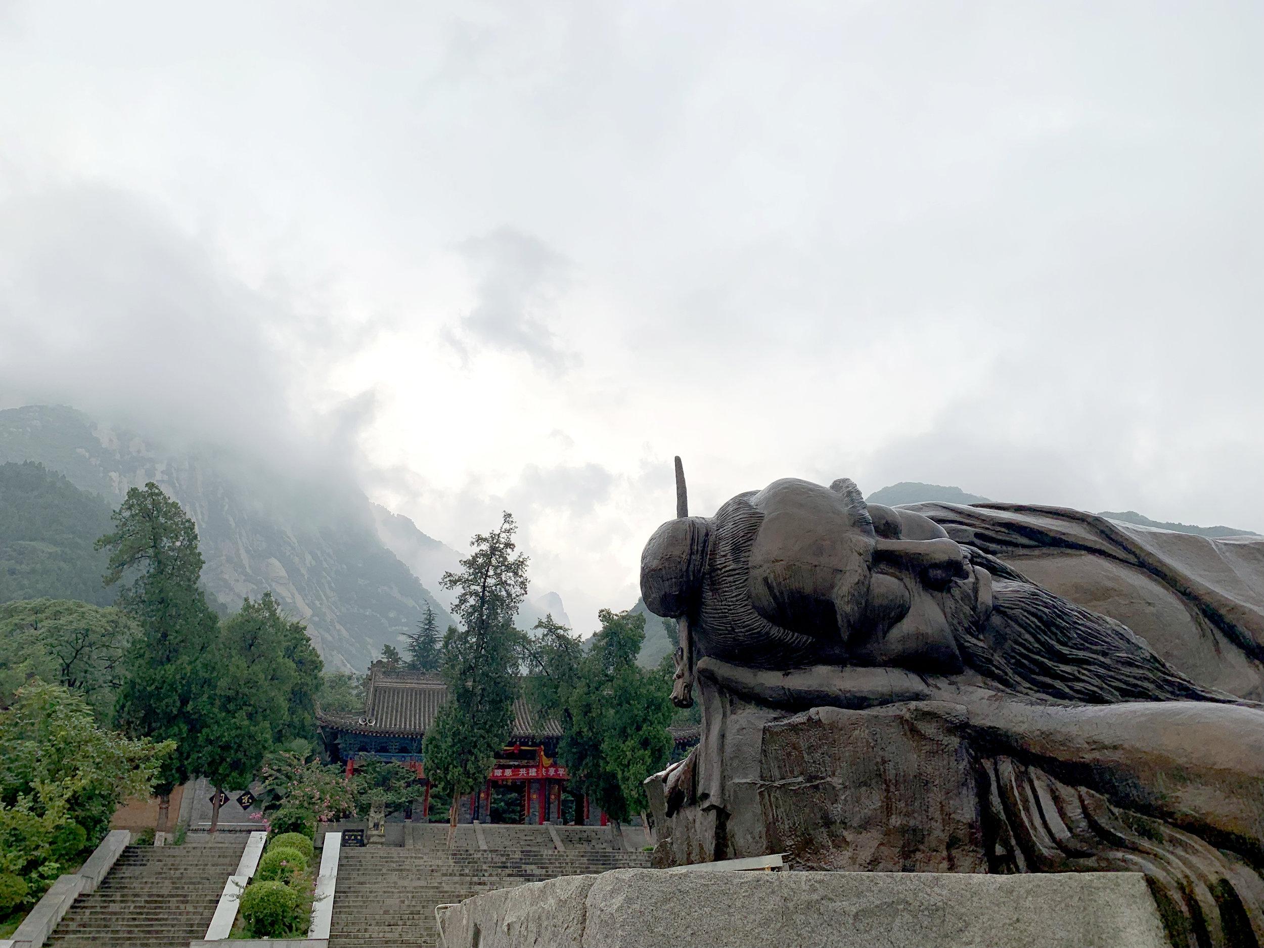Sleeping Chen Tuan, the sole figure of Taoism at Huashan.