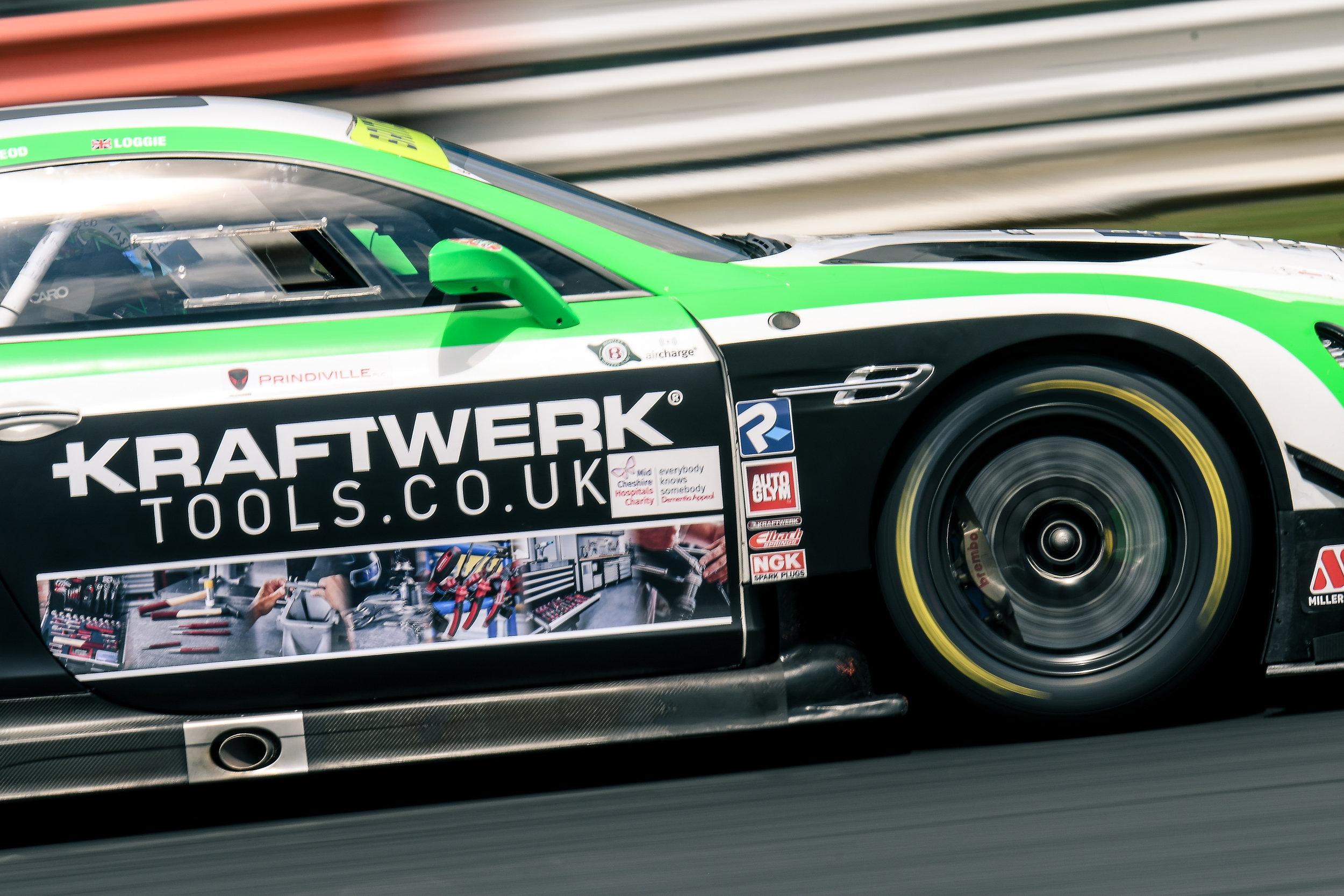 The 2018 Team Parker Racing Bentley GT3 of Callum Macleod and Ian Loggie