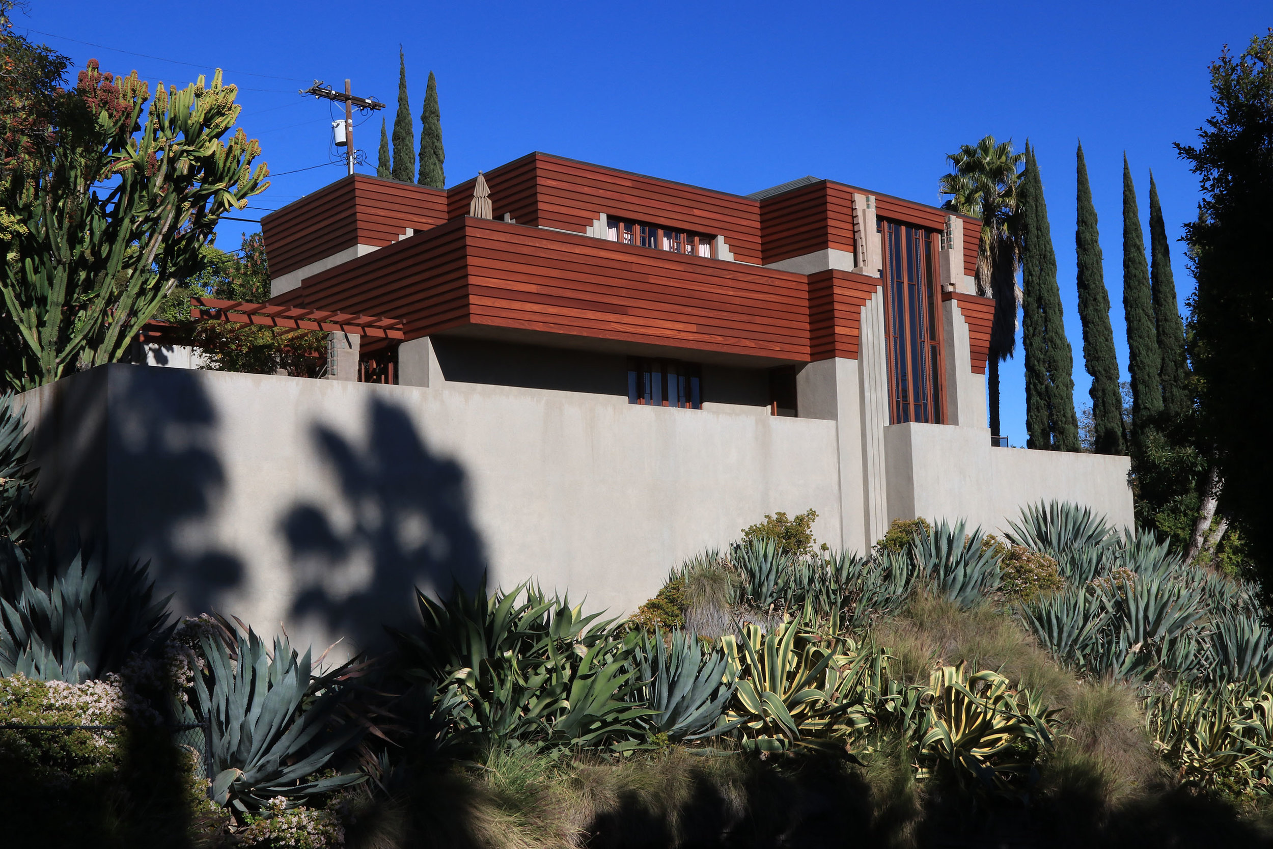 Taggart House - Lloyd Wright. 1922-23. Los Feliz, Los Angeles.   Learn more about the noteworthy architecture in the neighborhood of Los Feliz....