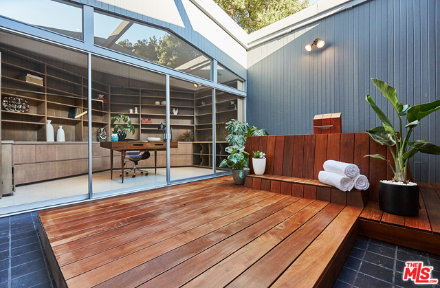 The Master's atrium's features a large deck and outdoor tub making it a perfect spot for your morning meditation, yoga, or perhaps a moonlight bath. Candles are on me if you decide to write an offer!