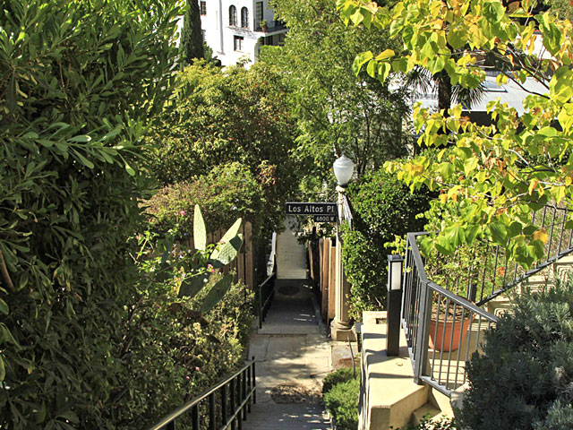 The other way of reaching homes in this hillside is via stairs – another romantic legacy of LA's early years.