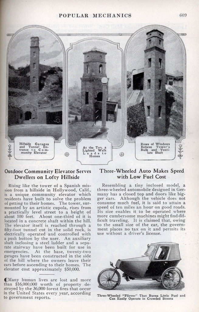 Another interesting newspaper item from early days of the tower!