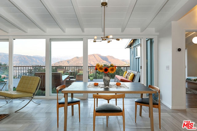 How is this for a dining room view? If it's not quite enough, just step out the door. You can see the breadth of the Hollywood Hills, including the Griffith Observatory and Hollywood sign, as well as Universal City the full expanse of the Valley.