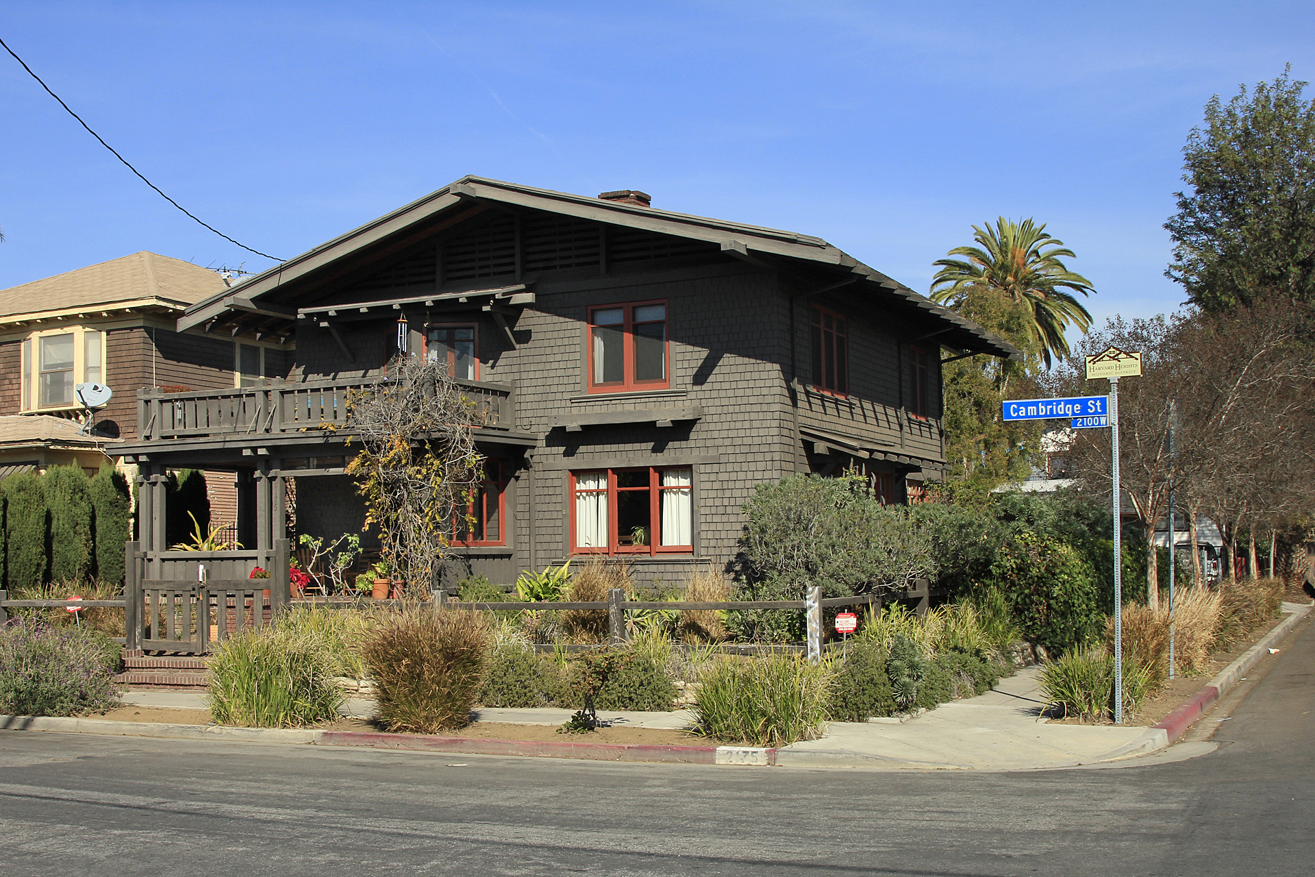 Speaking of architecture and history, how about this for starters? This is the Lucy Wheeler house, built in 1905, the last remaining Greene and Greene house within the city of Los Angeles. Designated as Historic Cultural Monument #991, it was owned and carefully restored by preservation architect and L.A. Conservancy founder Martin Eli Weil during the 25 years that he lived there. It most recently sold in 2011 and it continues to be protected by easements held by the Conservancy.