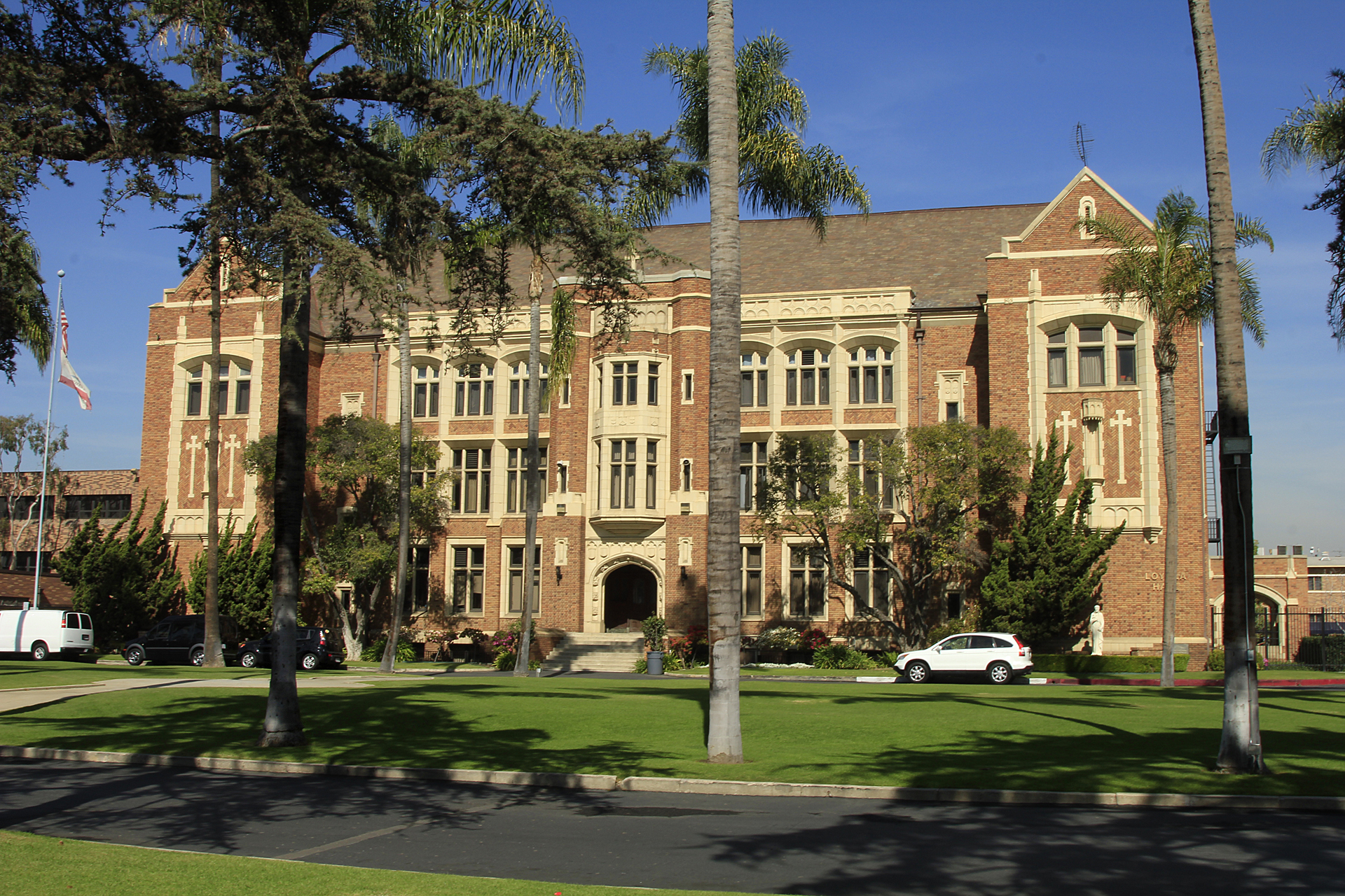 Loyola High School, a Jesuit preparatory school for boys, is not merely a stunning building. Founded in 1865, it's the oldest high school and continuously run educational institution in Southern California, pre-dating the University of CA system.