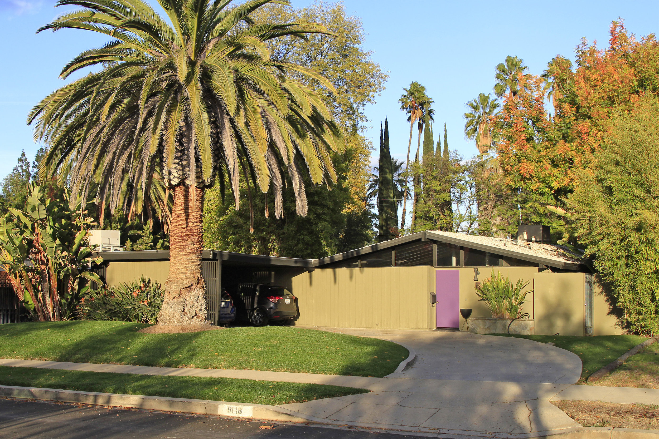 Corbin Palms Tract  - William Palmer & Dan Krisel  1953-55   6118 Jumilla Ave.  Los Angeles Historic-Cultural Monument No. 976