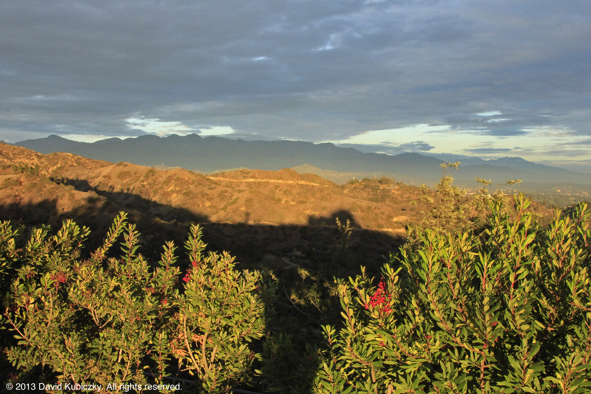 Looking toward Glendale and the San Gabriel mountains in the distance.