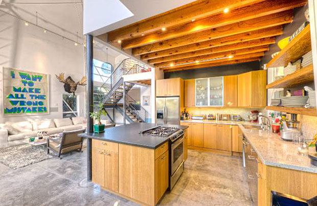 The kitchen is totally, totally functional and totally cool.