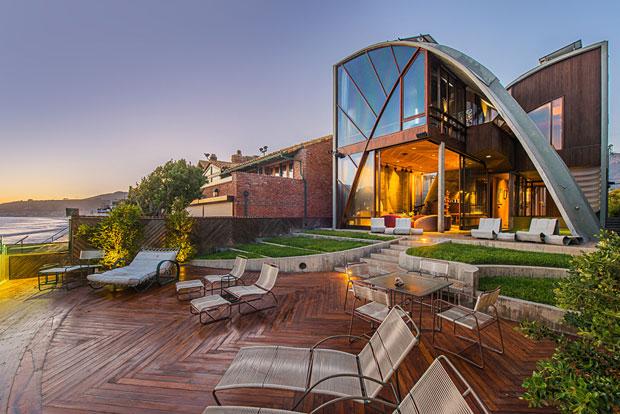 The Stevens Residence by John Lautner - 78 Malibu Colony Rd