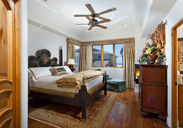 When it's time to retreat, the master offers a private fireplace, dual master baths and closets.