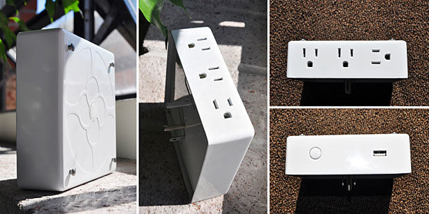 Here's another one that falls into the category of wish-I'd-thought-of-that-cool-idea. LIVING PLUG covers redefine the electrical wall outlet in form and function. The INLET enhances the utility of the standard duplex outlet by including a high capacity 2.1v USB charger and replaces the two standard outlets with three tamper-resistant outlets, thereby improving child safety.