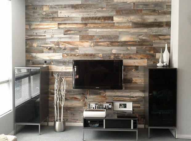 Their appearance is stunning and they come in a wide variety of styles. My favorite may be the reclaimed wood, pictured here. http://www.stikwood.com