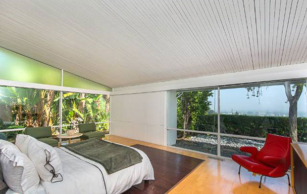 The master features fantastic views in one direction and beautiful tropical foliage in the other.