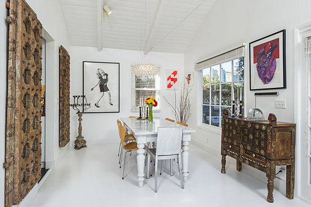 With French doors, hardwood floors…