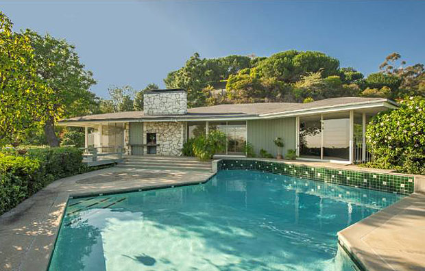 Ronald and Nancy Reagan (from 1957 - 1981) 4,764 sf, 4 BR / 4 BA Mid-Century, 1669 San Onofre Drive, Pacific Palisades. Active, List Price: $4,999,000