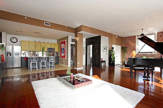 Additional features include high ceilings and large, restored double-hung windows, which give the space character and great natural light.