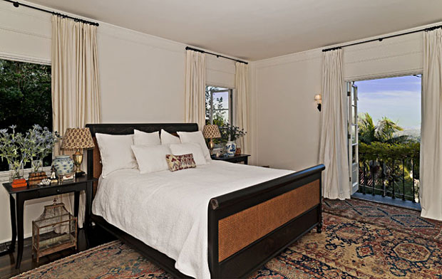 The second floor has five bedrooms. The master suite has city views and a generously sized dressing room.