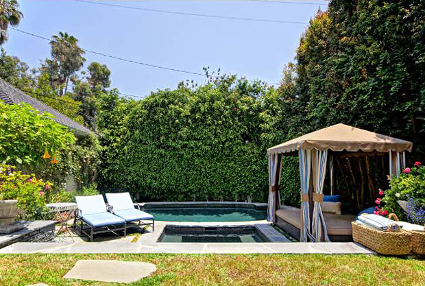 Located on Berendo Street just above Los Feliz Boulevard, the home is surrounded by gardens and enjoys large verandas with plenty of privacy.