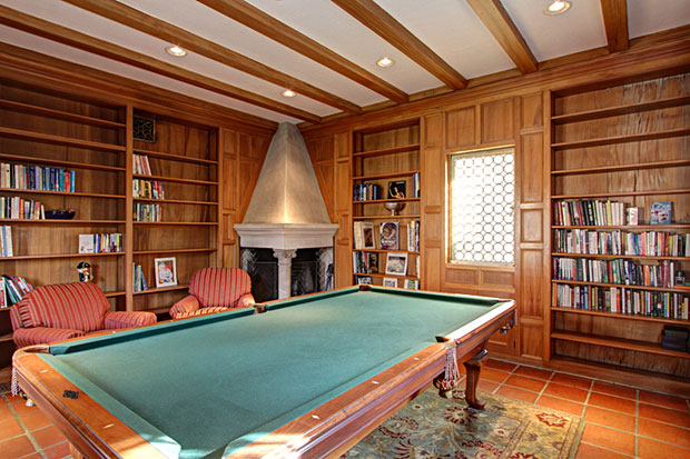 If you're not a reader, no worries... apparently the library makes for a great billiards room!