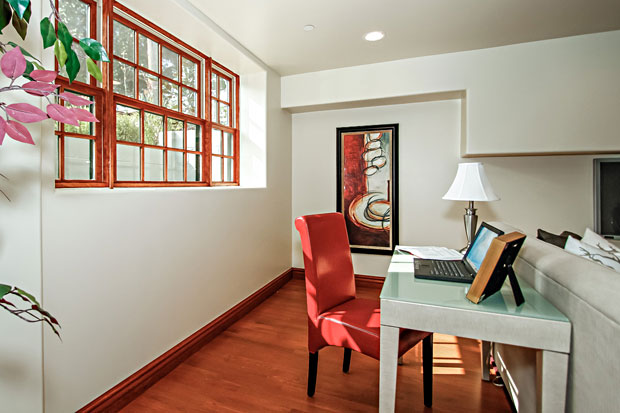 The large, removable windows provide yet another means for moving furniture and other items into and out of the basement.