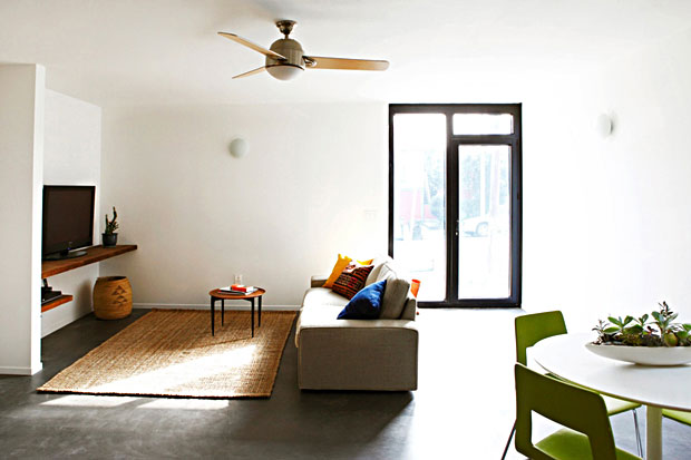 Besides the spacious floor plan, one of the things that struck me (in a positive way) while walking through the home is that some of the finishes are high quality, while others are quite economical, creating a vibe of a converted loft rather than new construction.