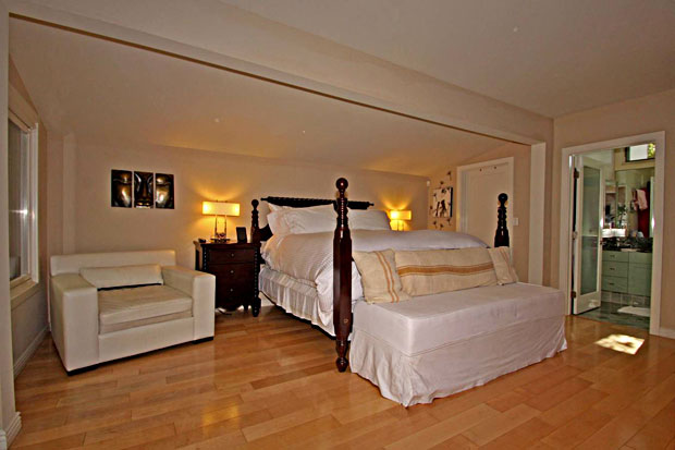 Fabulous master suite with sitting area, enormous walk in closet and luxurious, spa-like master bath.