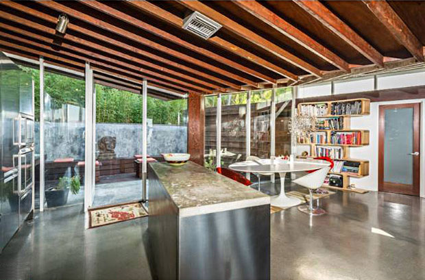 The home's updates adhere to the original mid-century aesthetic.