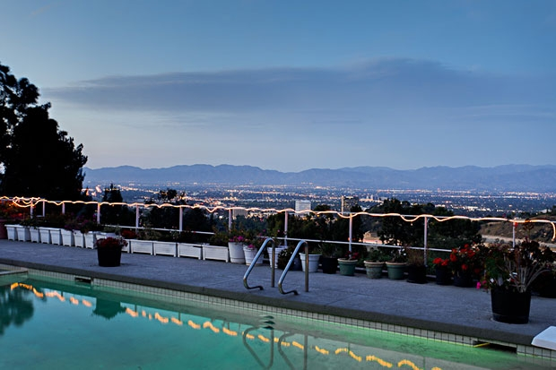 The view from poolside of the valley and mountains beyond at dusk is gorgeous.