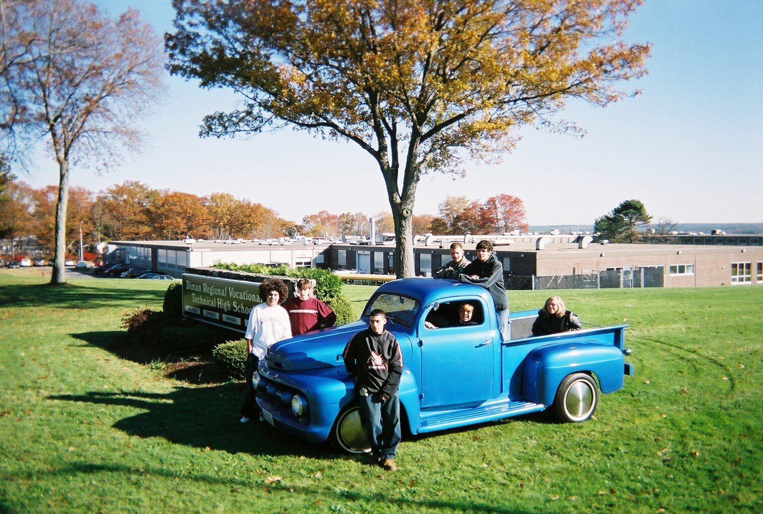 Diman Blue Truck with Students.jpg