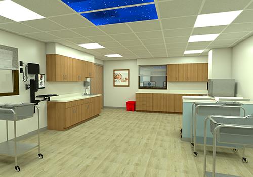 Rendering of Childbirth Center at GCMC