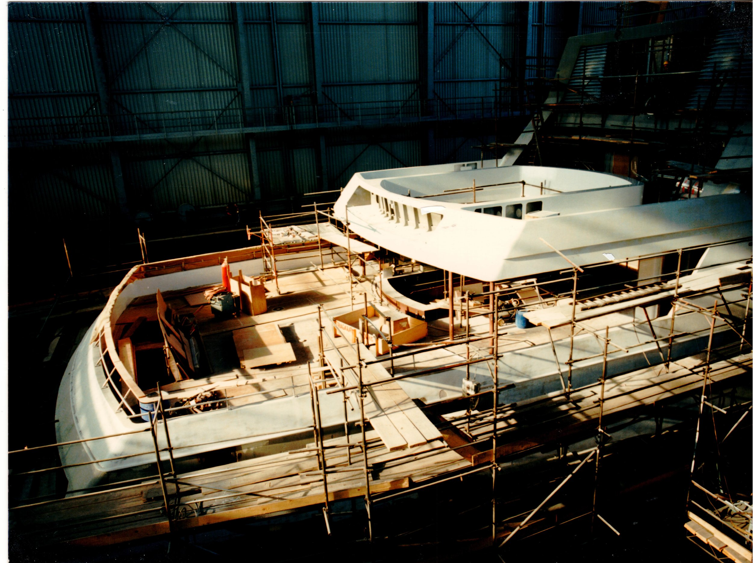 Yacht constructed at Blohm & Voss shipyard in Hamburg, Germany