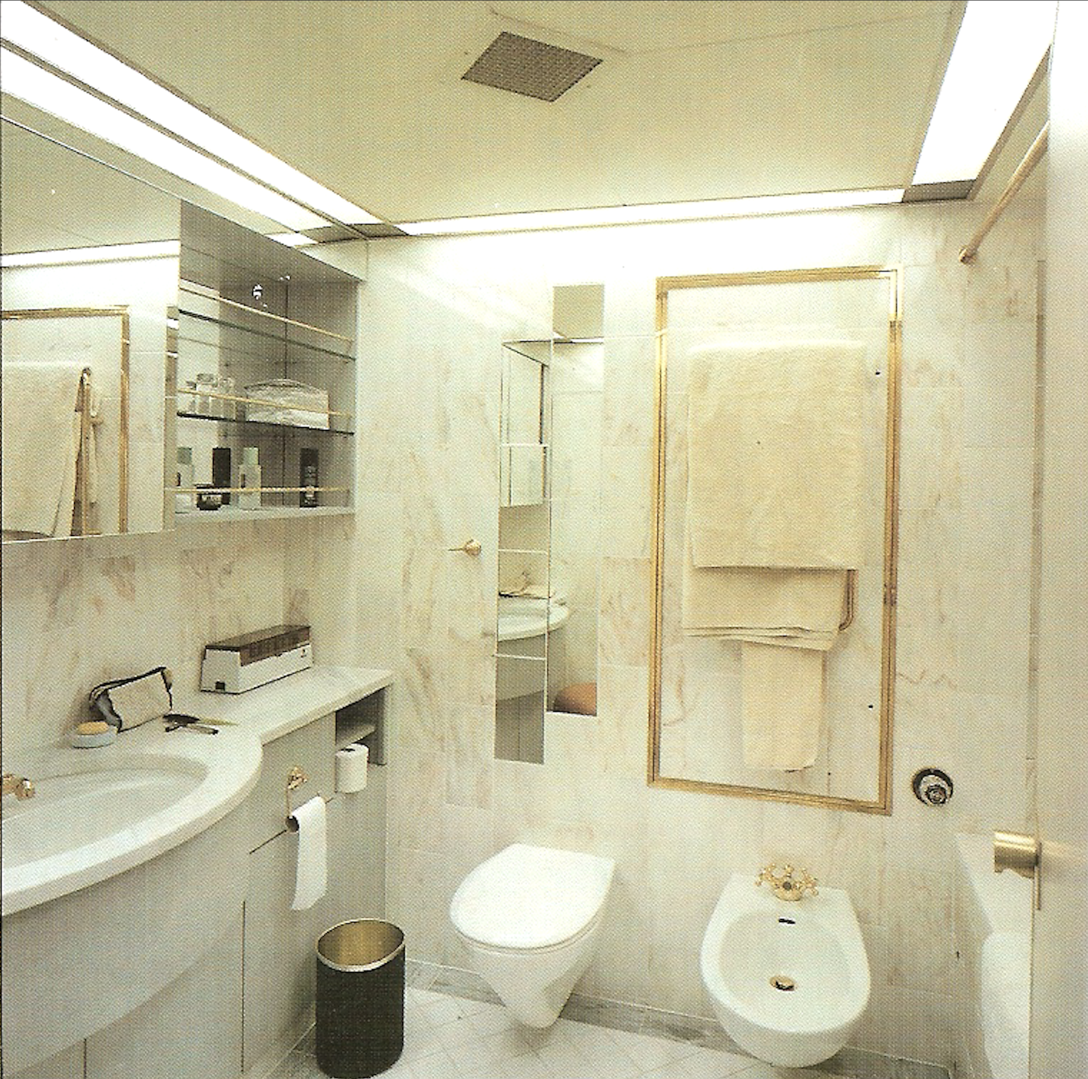 New luxury suite bathrooms on Queen Elizabeth II (Cunard Line)