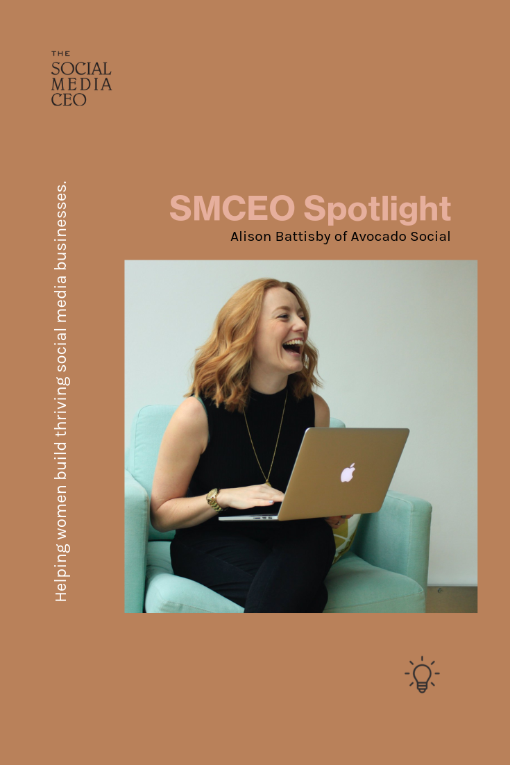 The Social Media CEO Spotlight featuring Alison Battisby of Avocado Social
