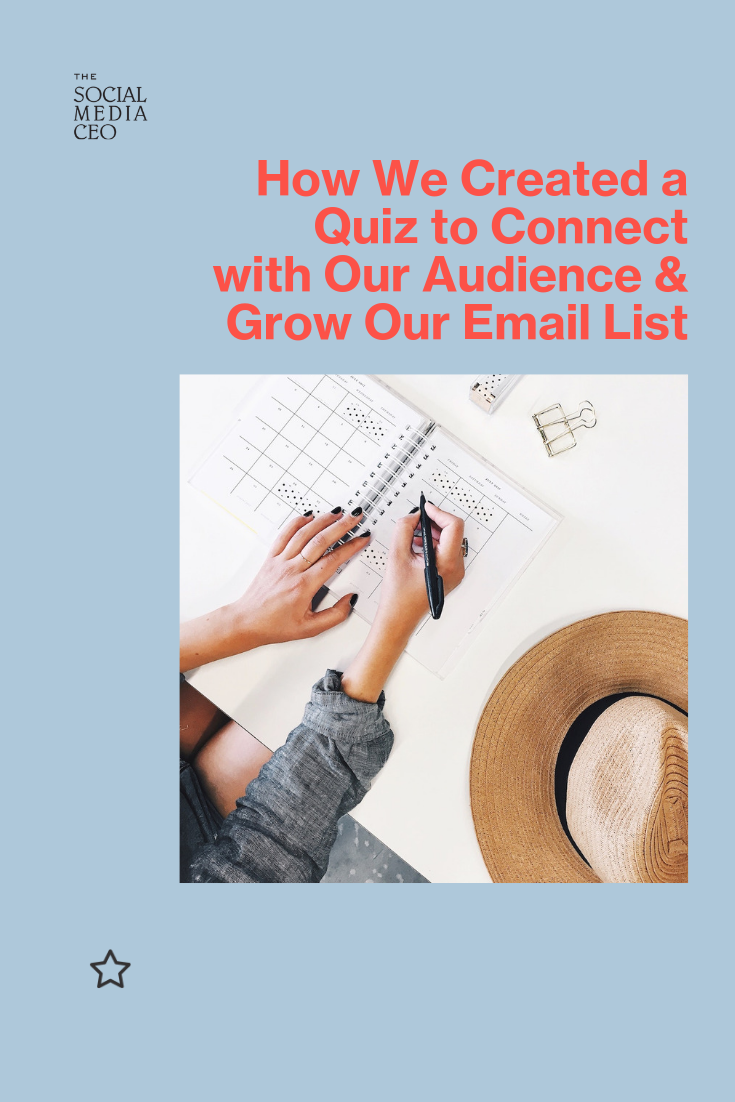 How We Created a Quiz to Connect with Our Audience & Grow Our Email List