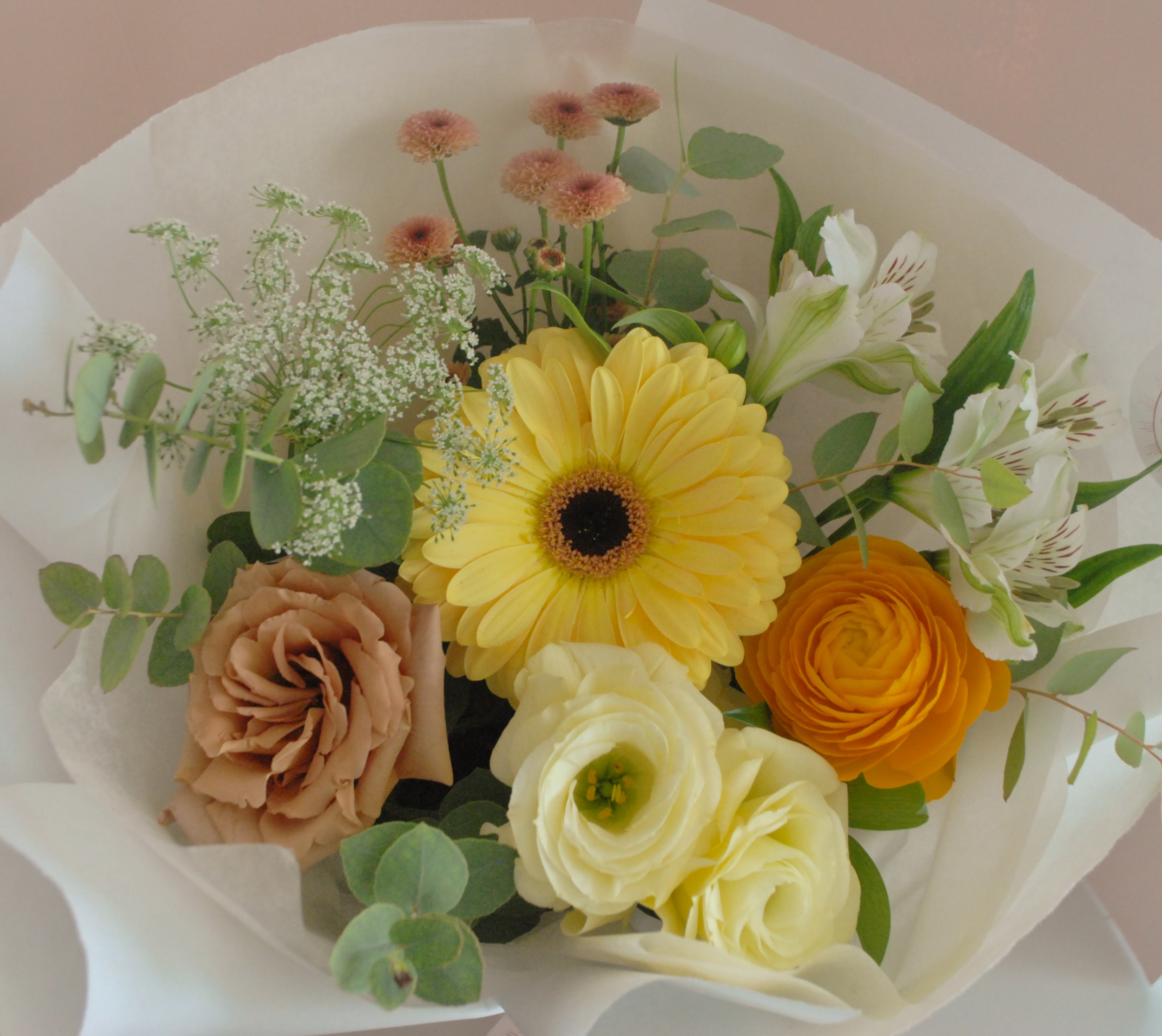 "Small bouquet - An example of what to expect in terms of sizing for a ""Small"" bouque"