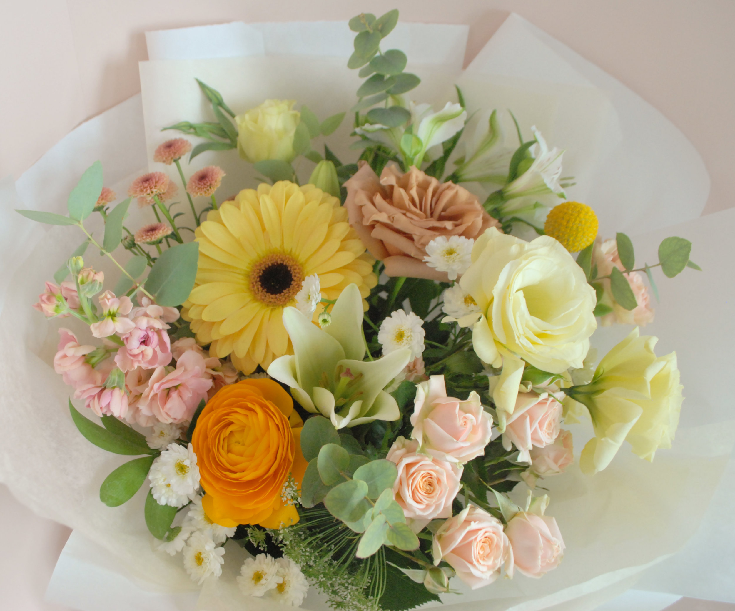 "Medium Bouquet - An example of what to expect in terms of sizing for a ""Medium"" bouquet."