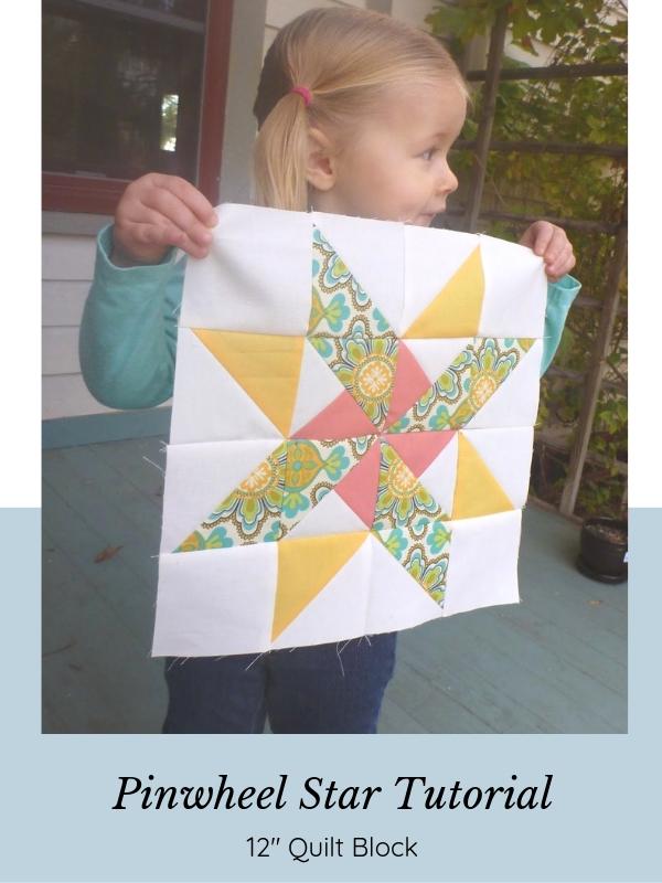 Star-Pinwheel Quilt Block Tutorial