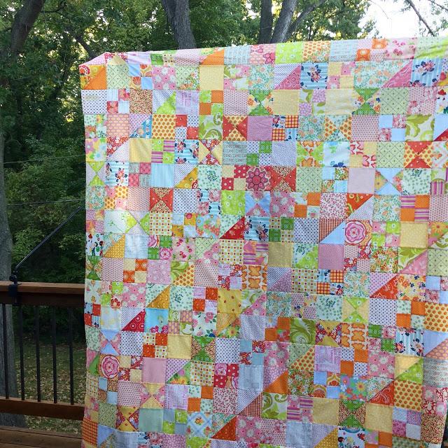 pink yellow scrap quilt.jpeg