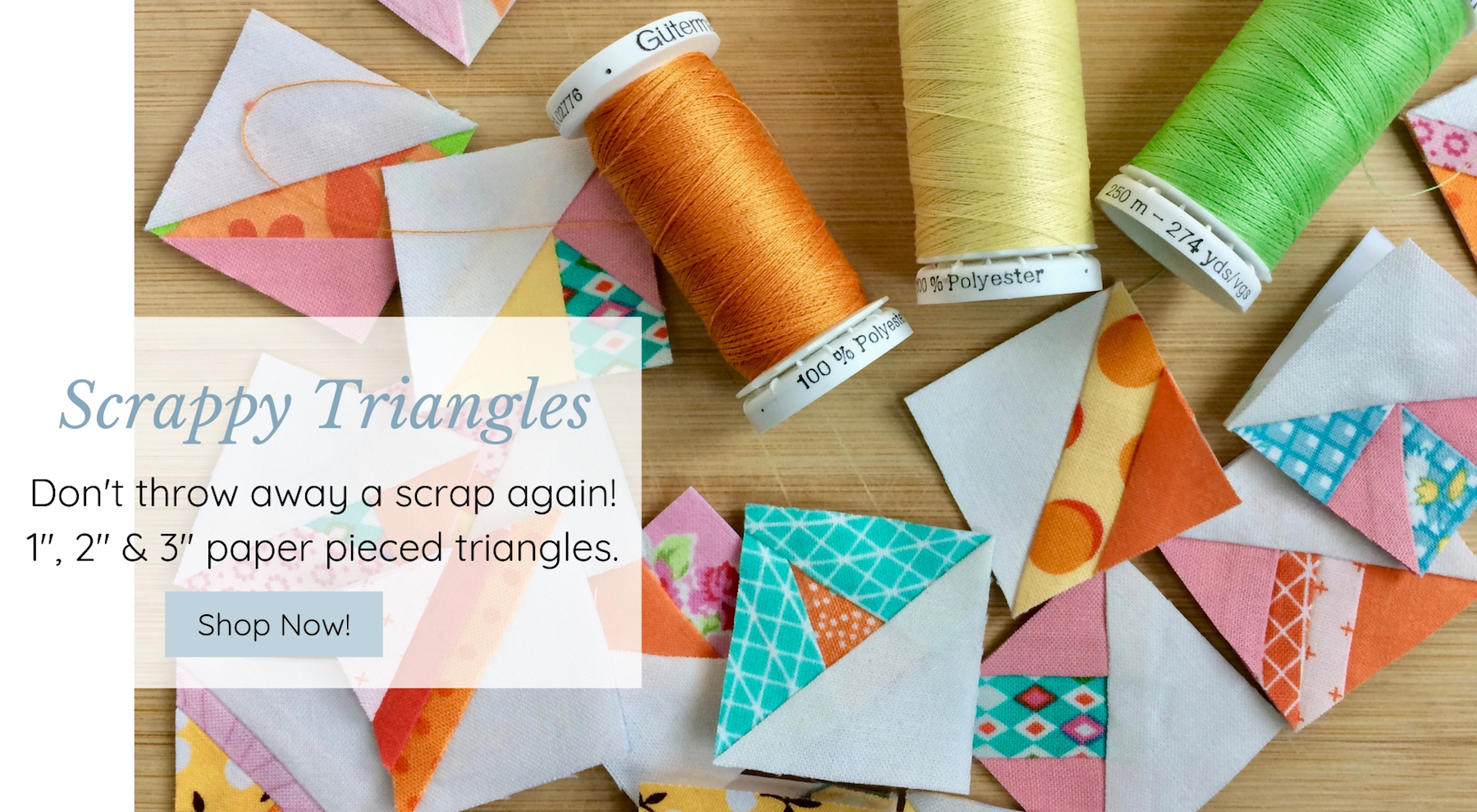 Tiny Piecing - Scrappy Triangles