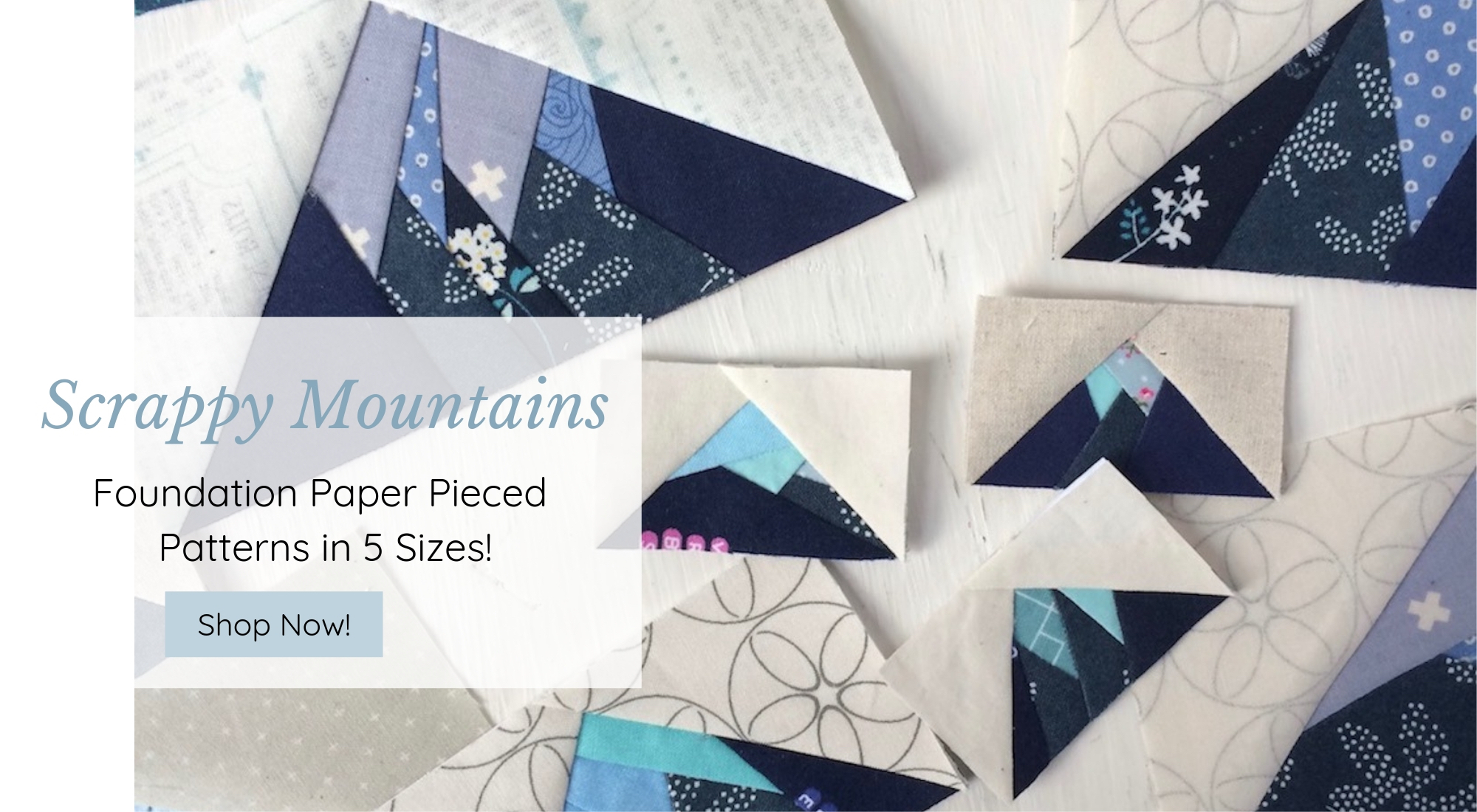 Scrappy Mountains - Foundation Pieced Quilt Block Patterns