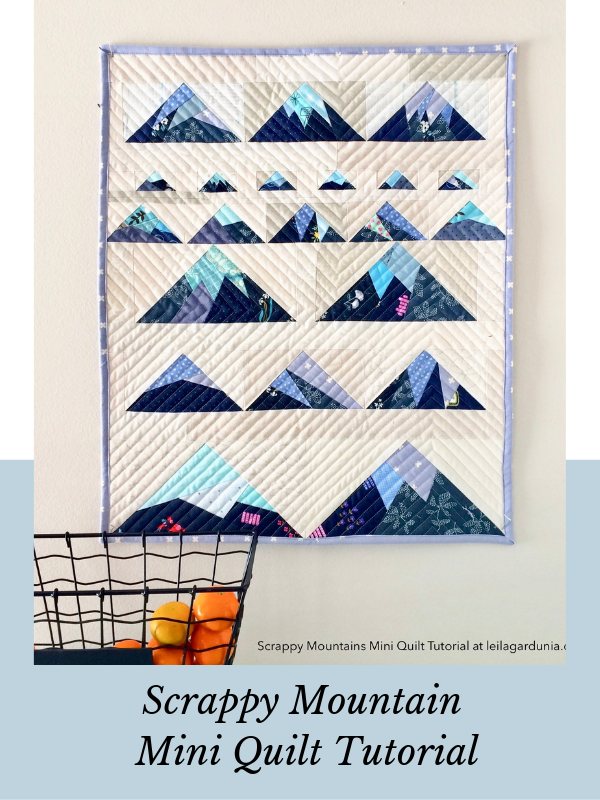 Scrappy Mountain Mini Quilt Tutorial
