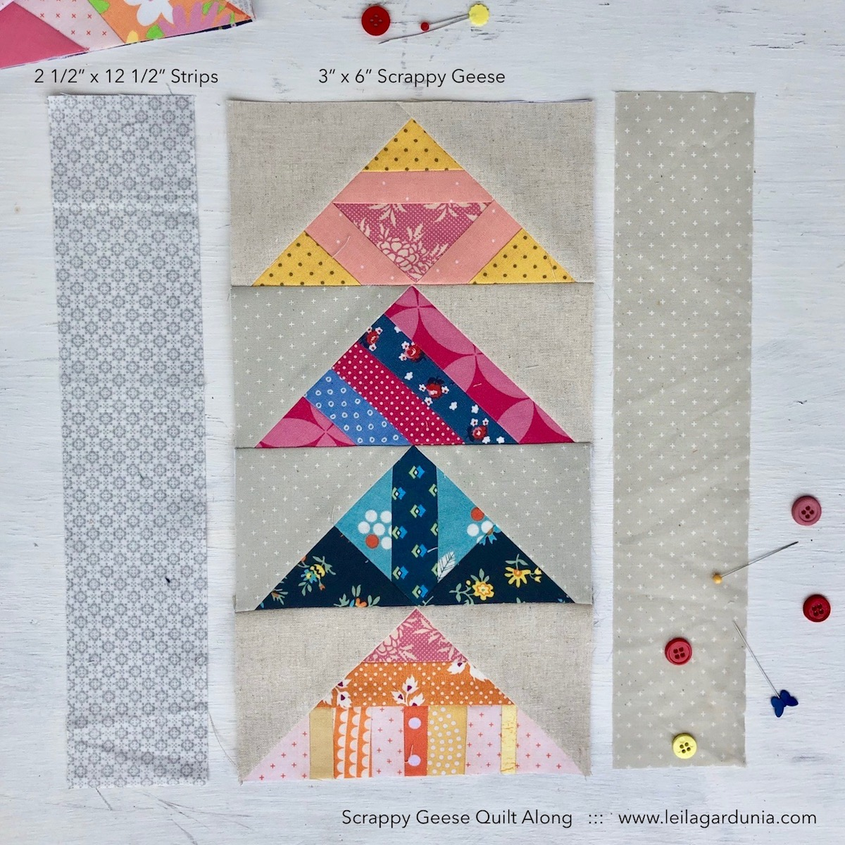 3 x 6 scrappy geese quilt along instructions.jpg