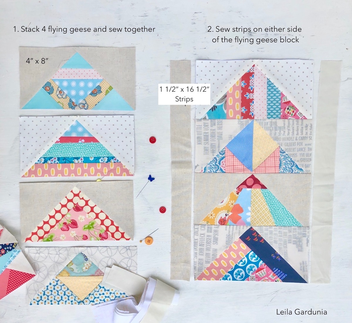 4x8 inch scrappy geese paper pieced blocks.jpg