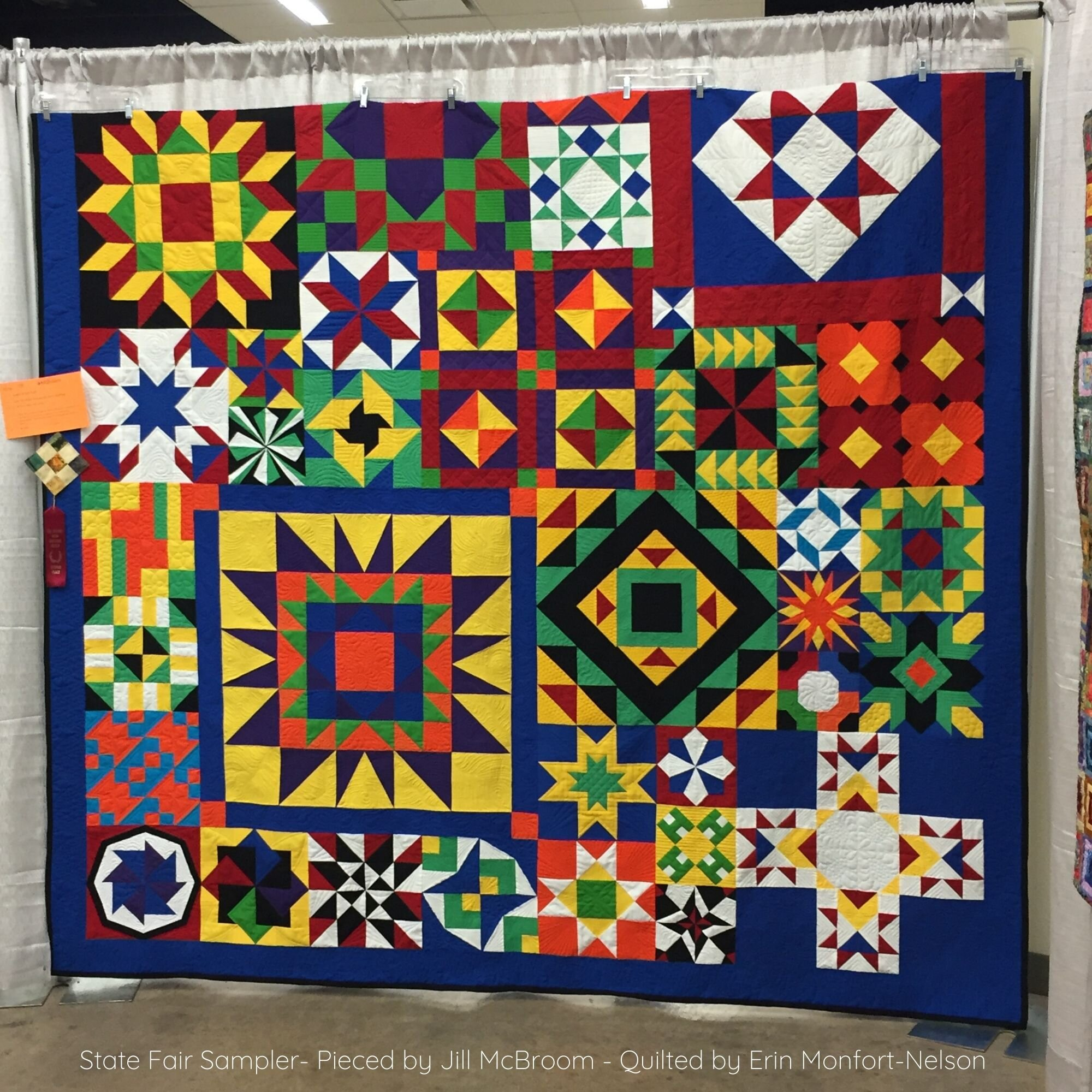 Jill , @justjillquilts , made the quilt in the original tile colors and won a prize at a quilt show!